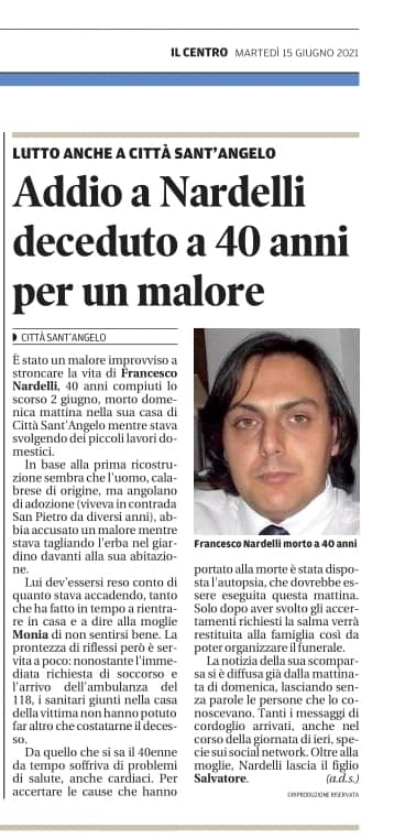 Decesso Francesco Nardelli