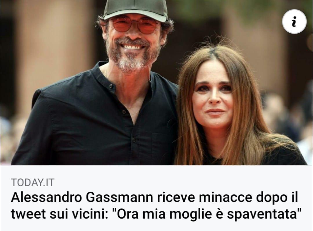 Alessandro Gasman e moglie