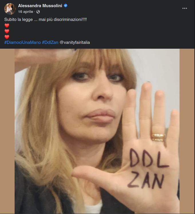 Alessandra Mussolini DDL ZAN