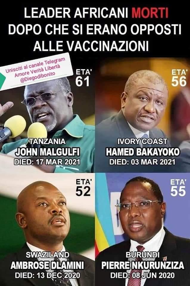 Presidenti africani morti