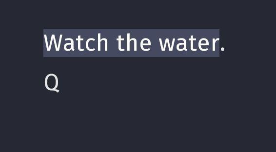 Guarda l'acqua